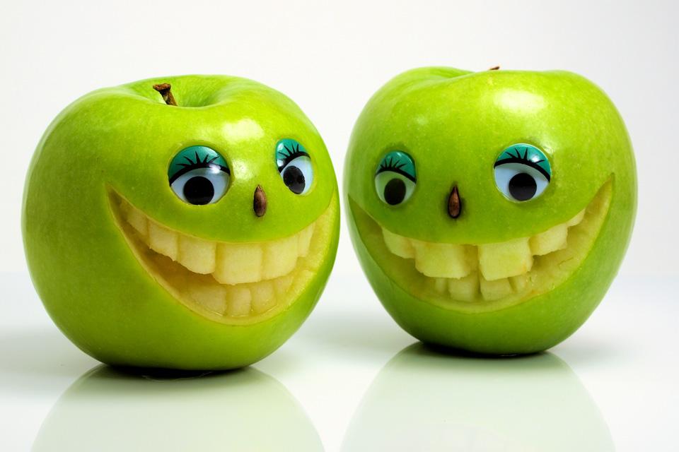 Смешные фрукты в картинках, смешные мультяшные