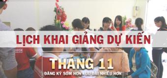 Lịch KGDK các khóa học tiếng Trung tháng 11 THANHMAIHSK Hà Nội