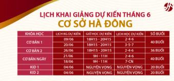 Khóa học tiếng Trung tháng 6 tại Hà Nội-Cơ sở 3 Hà Đông