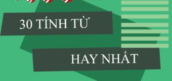30 tính từ hay nhất trong tiếng Trung