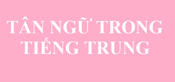 Cấu trúc tân ngữ trong tiếng Trung