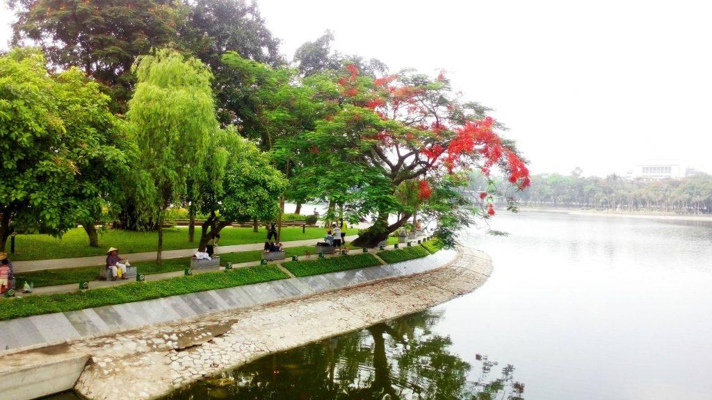 Hình ảnh Văn mẫu: Viết về thời tiết Hà Nội bằng tiếng Trung 1