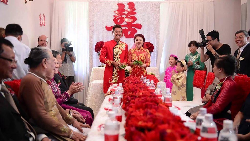 Hình ảnh Văn mẫu: miêu tả đám cưới bằng tiếng Trung