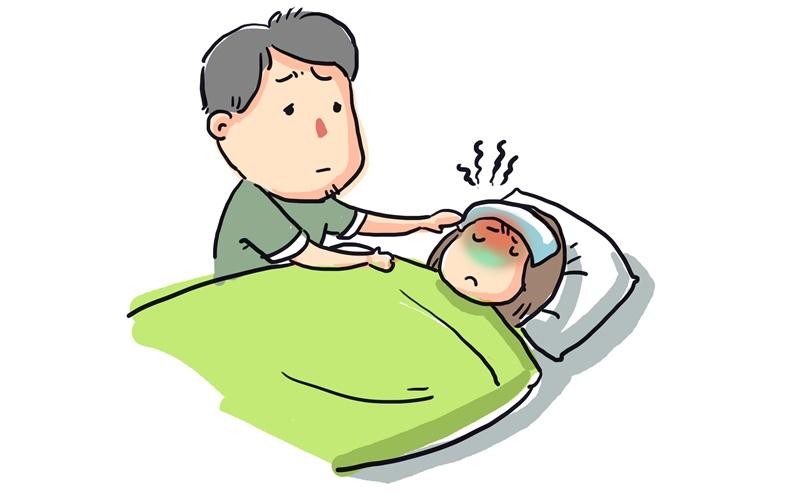 Hình ảnh Văn mẫu: Kể về một lần bị ốm bằng tiếng Trung