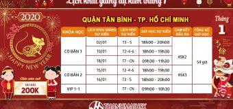 Lịch khai giảng tháng 1/2020 tại THANHMAIHSK cơ sở quận Tân Bình – Hồ Chí Minh
