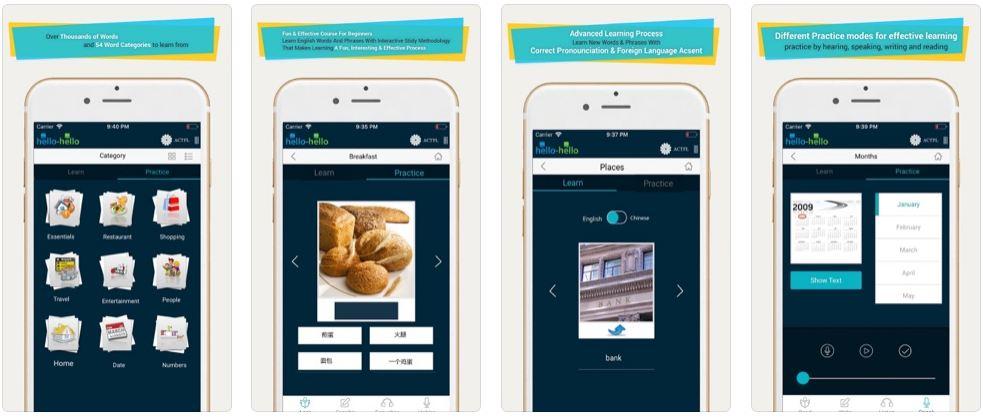 Hình ảnh App học từ vựng tiếng Trung theo chủ đề cực hay và dễ học 3