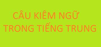 Câu kiêm ngữ trong tiếng Trung