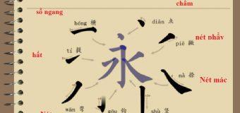 Các nét biến thể trong tiếng Trung và cách viết