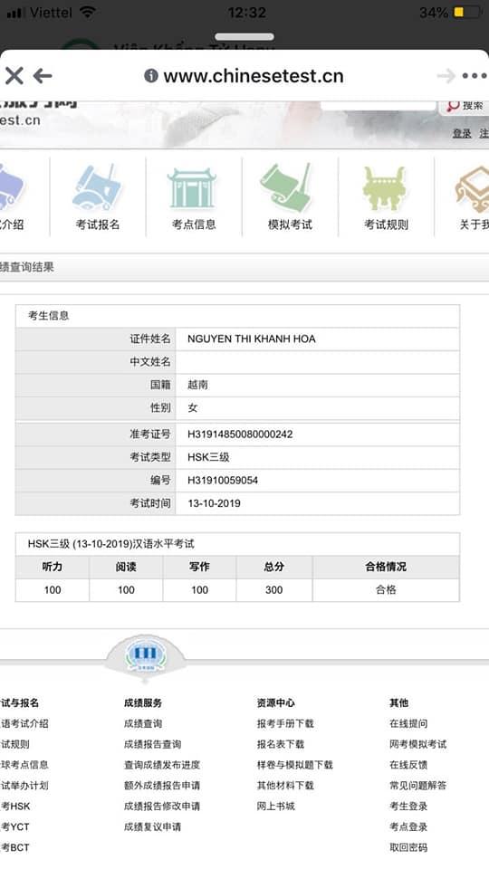 """Hình ảnh Bí quyết đạt 300/300 HSK3 nhờ phương pháp """"nhúng"""" tiếng Trung 1"""
