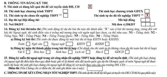 Hình ảnh Hồ sơ đăng ký thi tốt nghiệp THPT 2021 full chi tiết 2